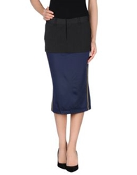 Fornarina Knee Length Skirts Blue