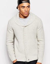 New Look Shawl Neck Knitted Cardigan Oatmeal