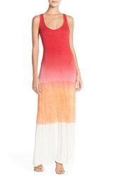Women's Fraiche By J Ombre Racerback Maxi Dress Hot Pink Ombre