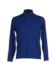 Rossopuro Topwear Polo Shirts Men Blue