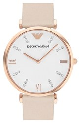 Women's Emporio Armani 'Retro' Leather Strap Watch 32Mm