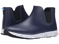 Native Apollo Rain Regatta Blue Shell White Black Speckle Black Rubber Rain Boots