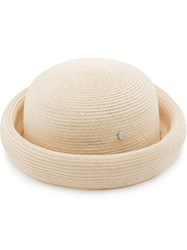 Maison Michel 'Reese' Bowler Hat Nude And Neutrals