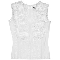 Veil London White Hand Beaded Top