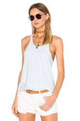 Bella Luxx Double Layer Racer Tank White