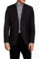 Howe Solid Blend Two Button Mod Squad Denim Blazer Black