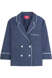 F.R.S For Restless Sleepers Leto Cotton Chambray Jacket Blue