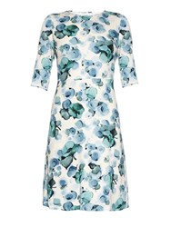 Goat Arianna Floral Print Crepe Dress