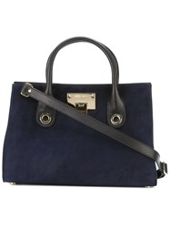 Jimmy Choo Medium Double Handles Tote Blue