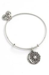 Women's Alex And Ani 'Cosmic Balance' Expandable Wire Bangle Silver