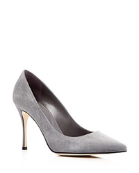 Sergio Rossi Godiva Pointed Toe High Heel Pumps Smoke Gray