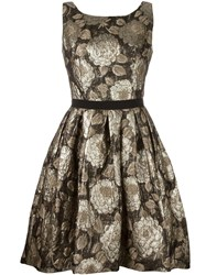 Christian Pellizzari Floral Jacquard Dress Metallic