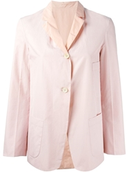 Jil Sander Lightweight Two Button Blazer Pink And Purple