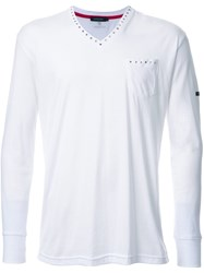 Loveless Embellished Detailing T Shirt White