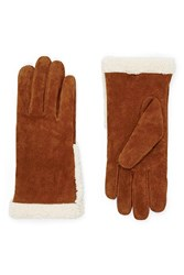 Forever 21 Genuine Suede Gloves Camel Cream