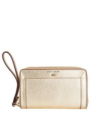 Cole Haan Eva Leather Smartphone Wallet Gold