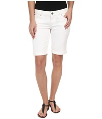Paige Jax Knee Short In Optic White Optic White Women's Shorts