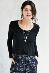 Kimchi And Blue Kimchi Blue Cozy Swing Top Black