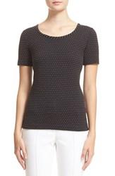 Women's St. John Collection Pintuck Dot Knit Jersey Tee