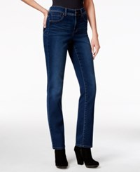 Styleandco. Style Co. Tummy Control Straight Leg Jeans Astor Wash