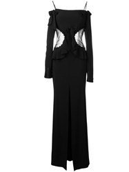 Alessandra Rich Off The Shoulder Gown Black