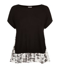Escada Sport Print Underlay Knit Top Female Black