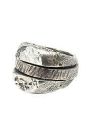 Tobias Wistisen Distressed Spinner Ring Metallic