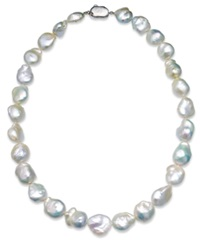 Macy's Cultured Freshwater Baroque Pearl Strand Necklace 11 1 2Mm 14 1 2Mm In Sterling Silver