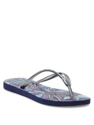 Havaianas Slim Royal Flip Flops Navy Blue