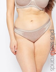 Marie Meili Curve Meredith Brief Mink Grey