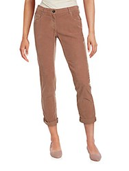 Brunello Cucinelli Solid Corduroy Pants Brown
