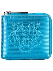 Kenzo Small 'Tiger' Wallet Blue