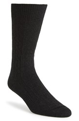 Men's Hook Albert Cable Knit Socks Grey Grey Twist