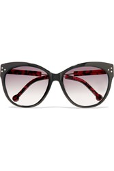 Preen Chelsea D Frame Acetate And Metal Sungalsses Black