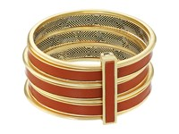 House Of Harlow The Titaness Leather Bangle Gold Bracelet