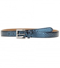 Fausto Colato Mytheresa.Com Exclusive Snakeskin Belt Blue