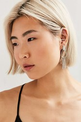 Urban Outfitters Chain Fringe Drop Earring Silver
