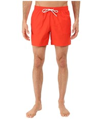 Lacoste Taffeta Swimming Trunk Etna Red White Men's Swimsuits One Piece Orange