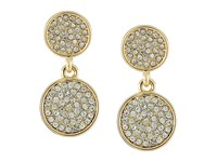 Karen Kane Starry Disc Double Drop Earrings Gold Earring