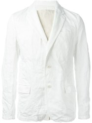 Sacai Ruffled Panel Denim Blazer White