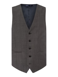 New And Lingwood Frockland Plain Tailored Fit Waistcoat Grey