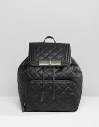Aldo Quilted Backpack With Front Pocket Black