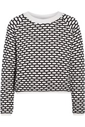 Tanya Taylor Perry Layered Stretch Knit Sweater White