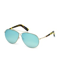 Tom Ford Eva Aviator Sunglasses In Shiny Rose Gold