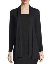 Eileen Fisher Long Kimono Cardigan Women's Black