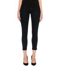 The Kooples Lightweight Cropped Stretch Denim Jeans Dark Navy