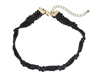 Steve Madden Rope Knot Textured Choker Necklace Black Necklace