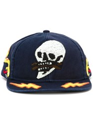 Diesel Skull Patch Baseball Cap Blue