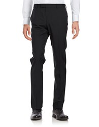 Strellson Straight Leg Wool Blend Pants Black