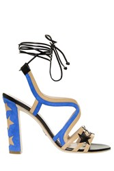 Paula Cademartori Starry Sandals Blue